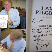 And the winner of the signed copy of I Am Pilgrim by Terry Hayes is…